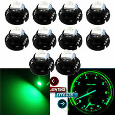 10x Green T4.7 T5 Neo Wedge LED Bulbs Dash Climate Panel Instrument Base Light