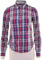 JACK WILLS Womens Shirt UK 8 Small Multi Check Cotton Classic Fit  GY15