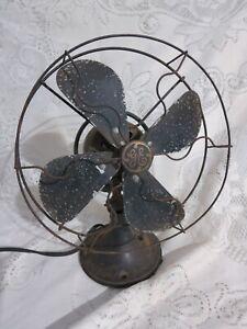 """Vintage GE Electric Oscillating Fan N 8890B 10 1/2"""" Diameter"""