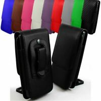 PU Leather Vertical Faux Belt Holster Case Cover for Nokia 1 Plus Nokia 3.1 Plus