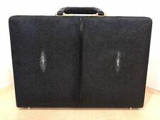 Vintage Presto Genuine Black Stingray Briefcase Attaché