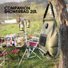 20L Solar Energy Heated Shower Water Bag Portable Outdoor Hiking Camping Travel