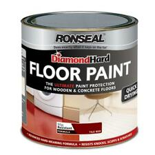 Ronseal Diamond Hard Floor Paint Tile Red Wood Concrete Stone Quick Drying 2.5L