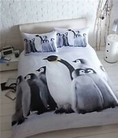 Eleanor James Double Penguins Duvet Quilt Cover Christmas Bedding ~ ONLY £9.99
