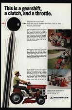 1968 MASSEY-FERGUSON Lawn Mower Tractor - Gearshift - Man Smokes Pipe VINTAGE AD