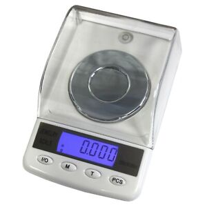 Superior Balance Precise 50 Digital Milligram Scale 50g X 0.001g PCS Tare White