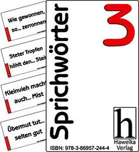 Sprichwörter 3 - 50 praktische Aktivierungskarten - ideal in der Altenpflege