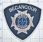 CANADA, BECANCOUR FIRE DEPT SERVICE INCENDIE QUEBEC WHITE EDGE PATCH