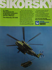 2/1981 PUB SIKORSKY CH-53E MARINES HELICOPTER HUBSCHRAUBER M198 HOWITZER AD