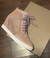 Linea Paolo Finian Wedge Sneaker Blush Knit Women's Sz 10 M