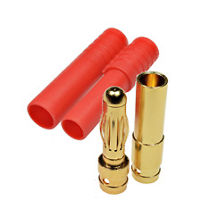 16 Stück 8 Paar 4mm HXT Goldsteckverbinder mit Gehäuse verpolsicher bis 93A Lipo