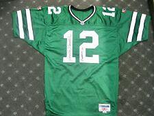 RARE Joe Namath Both Numbers Autographed Green Jersey Certified