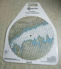 Vintage Waterproof Loran-C Overprinted Course Plotter Chart Long Island Sound