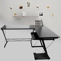 L-forme en bois Bureau d'ordinateur portable Workstation Table travail Meubles