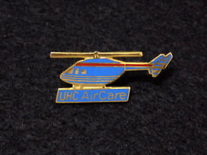 Vintage UHC AirCare Medical Helicopter Pin Badge