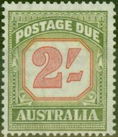 Australia 1953 2s Carmine & Yellow Green SGD130 V.F MNH