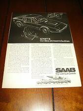 1970 SAAB SONETT SPORTS CAR ***ORIGINAL ADVERTISEMENT / PRINT AD***