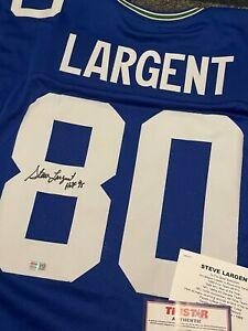 "Steve Largent Autographed Signed Custom Seattle Jersey ""HOF 95 "" TRISTAR"