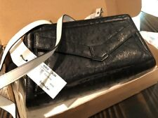 Proenza Schouler Black And White Leather Crossbody Ostrich Nappa Bag *NEW* 1995$