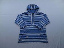 NWT LRL Jeans Co RL Womens Hoodie Sweatshirt Sz L Blue Striped Tribal Henley