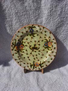 19th Century Cantagalli Italian Tin Glaze Faience Side Plate Antique