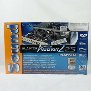 Creative Labs Sound Blaster Audigy 2 ZS Platinum Internal Sound Card SB0350P NEW