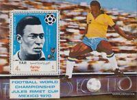 Nordjemen (Arabische Rep.) Block124 (kompl.Ausg.) postfrisch 1970 Fußball-WM, Me