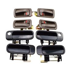 8PCS Inside Brown & Outside Black Door Handles for 92-96 Camry Front Rear LH RH