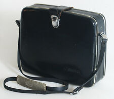 CANON BLACK LEATHER CAMERA CASE WITH SHOULDER STRAP