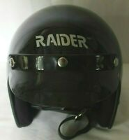 RAIDER TM Motorcycle Helmet Size Jr Extra Large Black DOT Very Good Condition