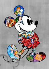 Disney Mickey Mouse art print A4, poster, picture, nursery, bedroom gift baby