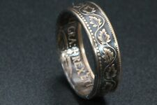 Sealed Coin Ring hand made from 100 year old Canadian large cent size 4-12