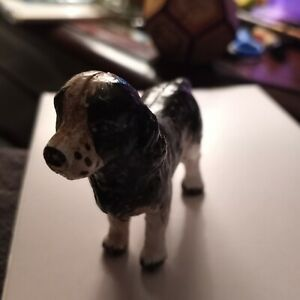 1800s Metal Hunting Dog most likely used as a dollhouse miniature.