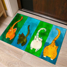 Funny Welcome Doormat Cat Floor Rugs Bathroom Kitchen Non-Slip Door Carpet Mat