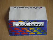 FORD 1984 COLOUR SELECTOR CHART (GENUINE FORD AUSTRALIA)