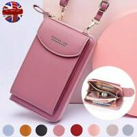 Women Clutch Bag Ladies Leather Wallet Purse Handbag Phone Coin Card Zip Holder~