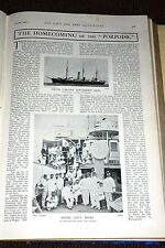 1901~3. Class Cruiser Porpoise ~ Offiziere & Petty Offiziere an Deck Homecoming