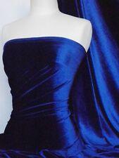 Electric blue velvet / velour 4 way stretch spandex lycra Q559 ELCBL