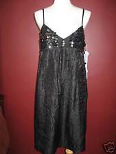 Vera Wang Lavender label 12 solid black sequined sequin cocktail evening dress