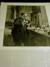 Edelfelt M. PASTEUR in his LABORATORY Medical Research 1890 Lg Antique Engraving