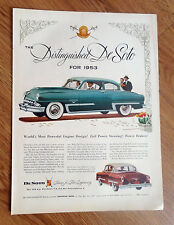 1953 DeSoto FireDome Ad Most Powerful Engine Design