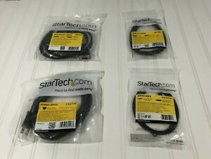 Lot of 5 StarTech Audio, USB 2.0, Power, & Displayport Cable Set Sealed Cables