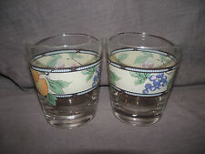 Set of 2 Mikasa Garden Harvest 10 Ounce Double Old Fashioned Glasses
