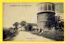cpa Rare FRANCE Old Postcard 77 - ACHÈRES (Seine et Marne) Rue du CHÂTEAU d'EAU
