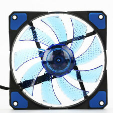 Practical 3-Pin/4Pin 120mm Computer PC Case Cooling Fan Cooler Quad 15 LED Light