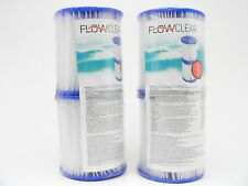 Bestway Flow Clear Size I Filter Cartridge #58093 4-Pack