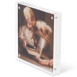 Scribble Free Standing 5 x 5 Acrylic Photo Frame Block