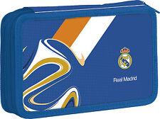 Nuevo Real Madrid doble Estuche con equipos para niños chicos Football Club