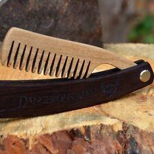 Folding Beard/Moustache Comb - Grooming - Wenge & Walnut