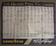 Vintage Goodyear Formula 1 race poster Ferrari McLaren Tyrrell